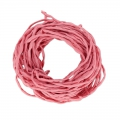Rolled silk cord 3mm Vintage Rose x10m