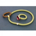 Plastic hollow cord 4mm Khaki x 50cm