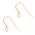 14K Gold filled 14mm Earwires x2