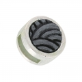 Knot slider bead for lace 10mm Hematite