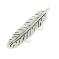 Slip bead double feather for regaliz 47 mm old silver tonex1