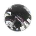Striated Murano round 10mm Black x1