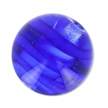 Striated Murano round 10mm Blue x1