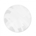 Striated Murano round  8mm white x1