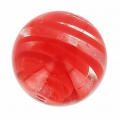 Striated Murano round 12mm Red x1