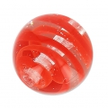 Striated Murano round 10mm Red x1