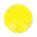 Striated Murano round 12mm yellow x1