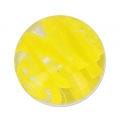 Striated Murano round 10mm yellow x1