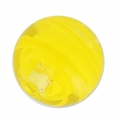 Striated Murano round  8mm yellow x1