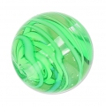Striated Murano round 12mm green x1