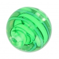 Striated Murano round 10mm green x1