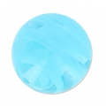 Striated Murano round 10mm Aquamarine x1