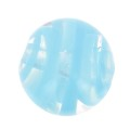 Striated Murano round  8mm Aquamarine x1