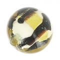 Striated Murano round  8mm Caramella Light Topaz x1