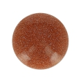 Round cabochon 15mm Gold stone