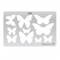 Rigid Template for polymer clay 152x100mm Butterfly