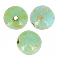 Round beads 4mm Blue Turquoise Picasso x50