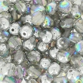 Round beads 4mm Crystal Silver Rainbow x50