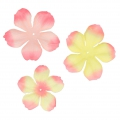Set of 40 flowers in fabric Begonia Light Rose