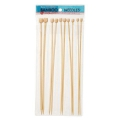 Assortment of knitting needles 3.5/4/4.5/5/6 mm bamboo x30 cm