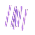 Mini straws in polymer clay 20x2.3 mm Purple x5