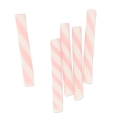 Mini straws in polymer clay 20x2.3 mm Light Rose x5