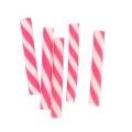 Mini straws in polymer clay 20x2.3 mm Hot Pink x5