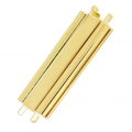 Clasp Beadslide for bead weaving to clip 29x13 mm Gold tone x1