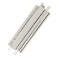 Clasp Beadslide for bead weaving to clip 29x10 mm rhodium x1