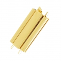 Clasp Beadslide for bead weaving to clip 24x13 mm gold tone x1