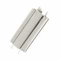 Clasp Beadslide for bead weaving to clip 24x13 mm rhodium x1