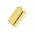 Clasp Beadslide for bead weaving to clip 18x13 mm gold tone x1