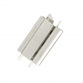 Clasp Beadslide for bead weaving to clip 18x13 mm rhodium x1