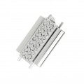 Clasp Beadslide for bead weaving to clip decorated 22x13mm rhodium x1
