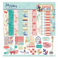 Assortiment cardstock and stickers Julie Nutting 30.5x30.5 cm Nautical Bliss