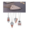 Mold pendent pendent for creative cement 3.9x2.7 cm heart
