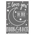 Hotfix transfer I love you to the moon and back 24.8x17 cm White x1