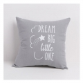 Cotton Pillow case with zipper 40x40 cm Grey