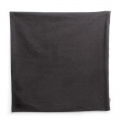 Cotton Pillow case with zipper 40x40 cm Black