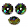 Swarovski 5040 Flat round 6mm Crystal Rainbow Dark 2X x1