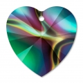 Swarovski 6228 Hearts 10,3x10mm Crystal Rainbow Dark x6