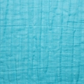 Fabric double cotton gauze Turquoise x10cm