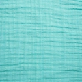 Fabric double cotton gauze Teal x10cm