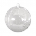 Transparent Xmas ball to fill 100mm with 60mm opening x1