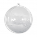 Transparent Xmas ball to fill 120mm with 75mm openingx1