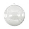 Transparent Xmas ball to fill  80mm with opening 45 mm x1