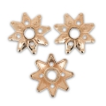 bead cap Flower-shaped  9mm rose gold tone x8