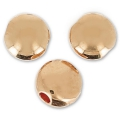 Flat Pucks 5.5mm rose gold tone x6