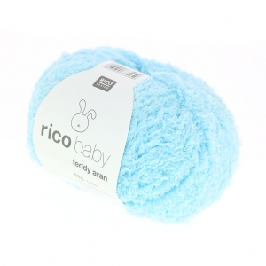 Wool Rico Baby Teddy Aran light blue x50g