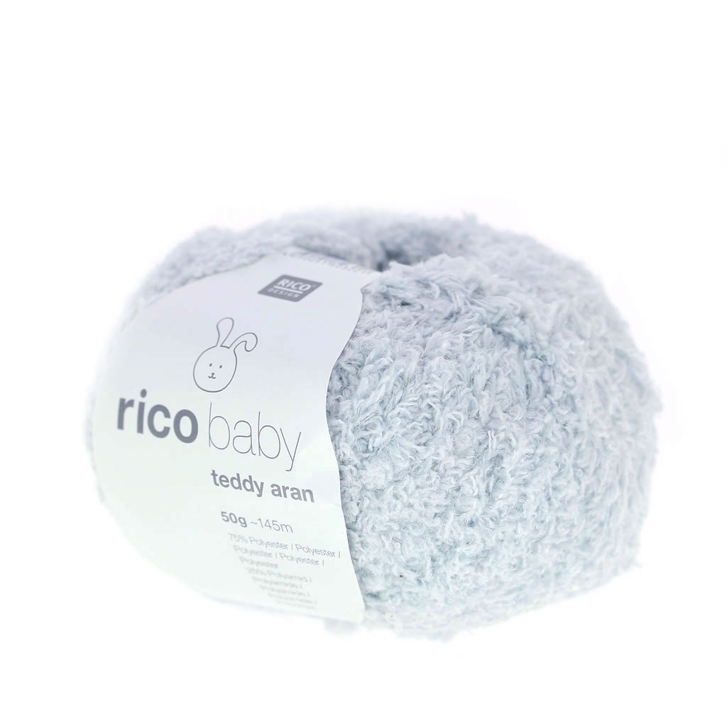 Rico Baby Wolle.Wool Rico Baby Teddy Aran Light Grey X50g